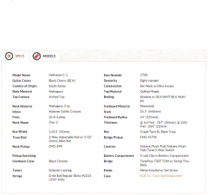 Характеристики с официального сайта