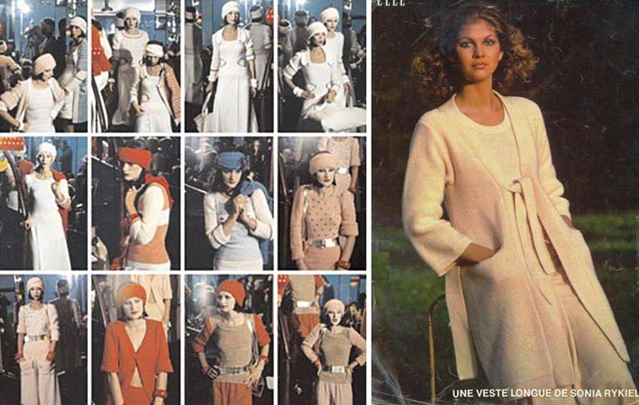 125 Tricot S Rykiel 1972 défilé Fiche Elle