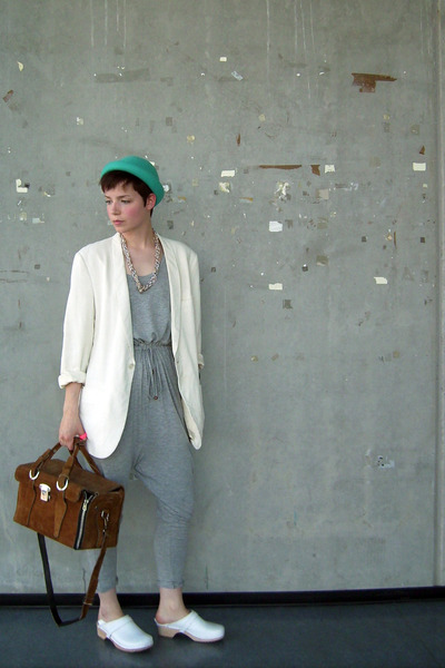 white-blazer-blue-h-m-hat-silver-h-m-dress-white-clogs-shoes-brown_400