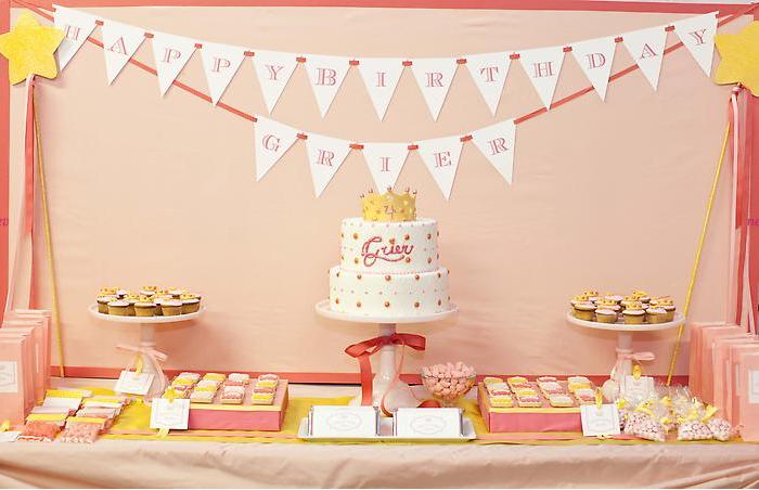 Оформление стола на день рождения своими руками фото