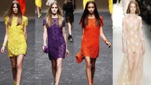Звездотренд заиграл новыми красками: модные кружевные платья осень 2014